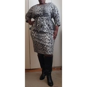 Plus Size animal print dress